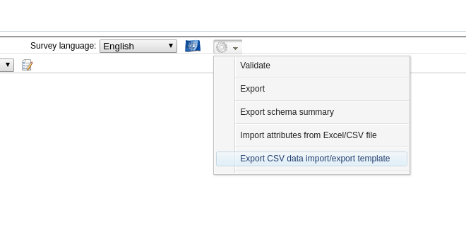 csv data import/export template generation